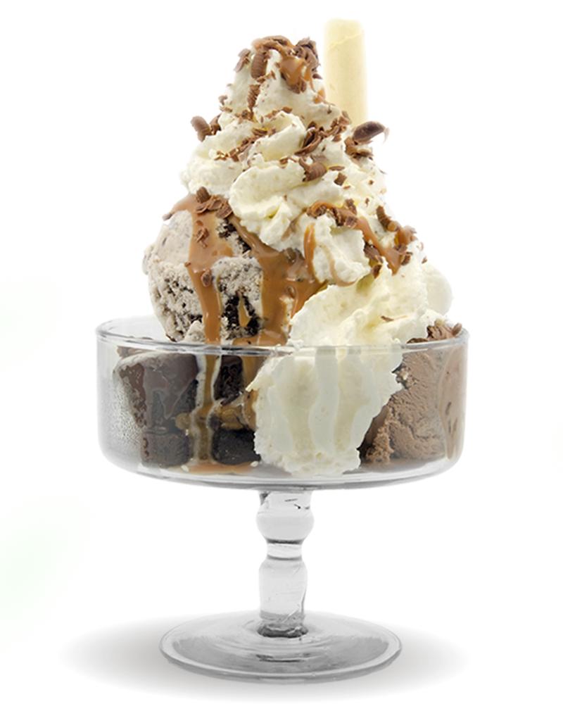 Brawnie con helado